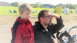 Ich mit meinem Sohn David in Cuxhaven