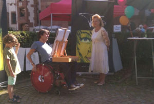 Marijke Amado bei inklusiven Musikfestival mit runa reisen