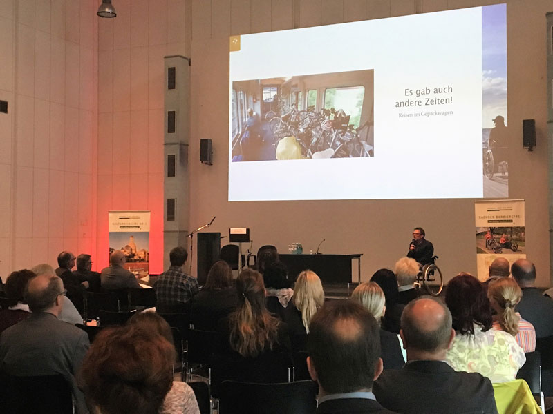 Jürgen Klug präsentiert seine Erfahrungen zum Barrierefrei Reisen