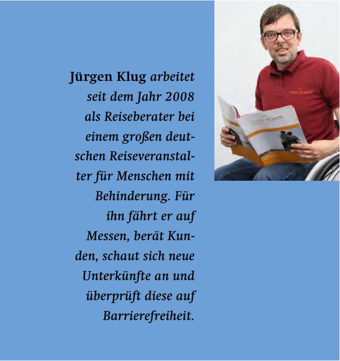"""Jürgen Klug Intro mit Foto zum Thema """"Chronisch krank auf Reisen"""""""